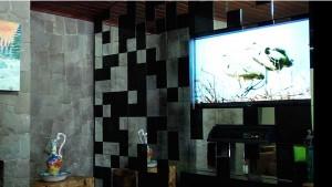 painel com tv embutida