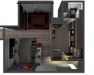 cozinha, sala e lavanderia planejadas