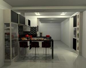 Cozinha planejada e bar